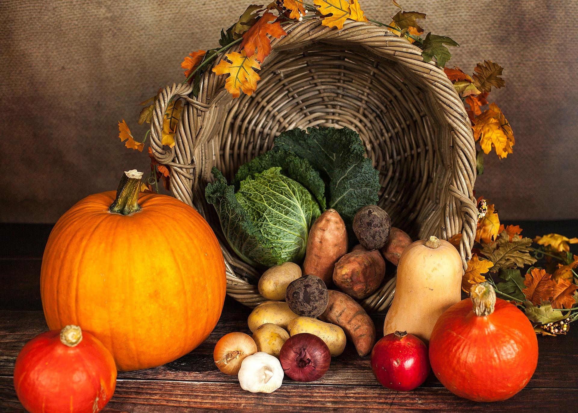 Les légumes à l'automne